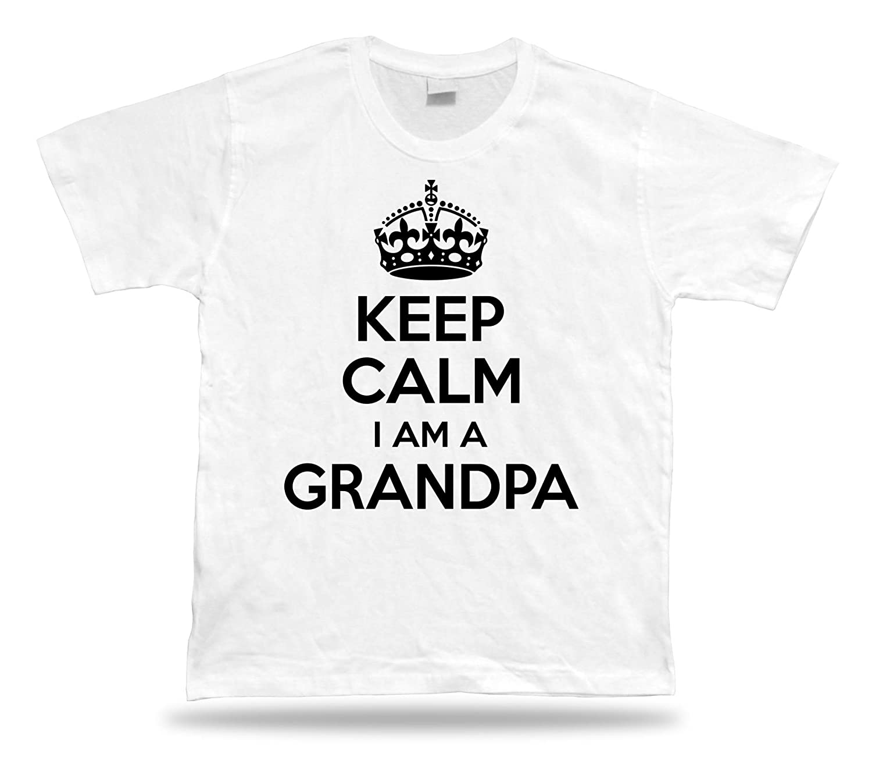 KEEP CALM I am a Grandpa No1 best T shirt perfect Gift Idea birhday present Tee