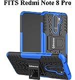 Bracevor Hybrid Back Cover Kickstand Case for Xiaomi Redmi Note 8 Pro - Blue   Rugged Defender