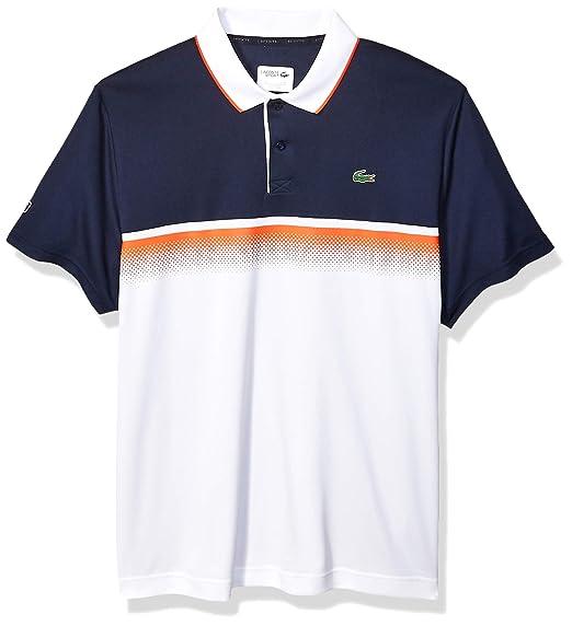 412e4b57 Lacoste Men's Sport Short Sleeve Ultra Dry Gradient Print Polo