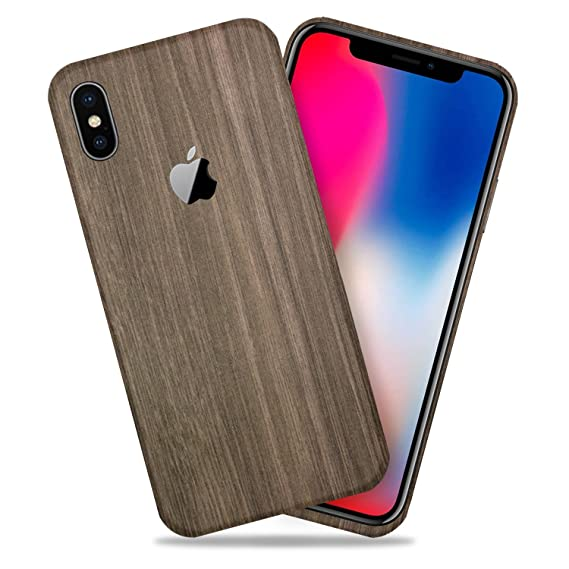 lower price with d9406 9f890 Brown Wood Texture Protective Skin Decal for Apple iPhone X/iPhone 10  Sticker Wrap Cover 2 Pack by GolemGuard
