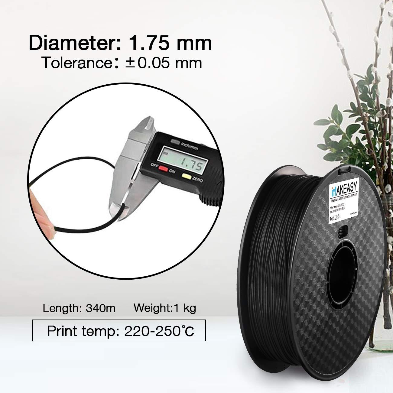 2.2lb +//- 0.02 mm 1 kg Spool PETG Blanc PETG 3D filament Makeasy petg filament 3D Printer Filament 1.75mm 1KG
