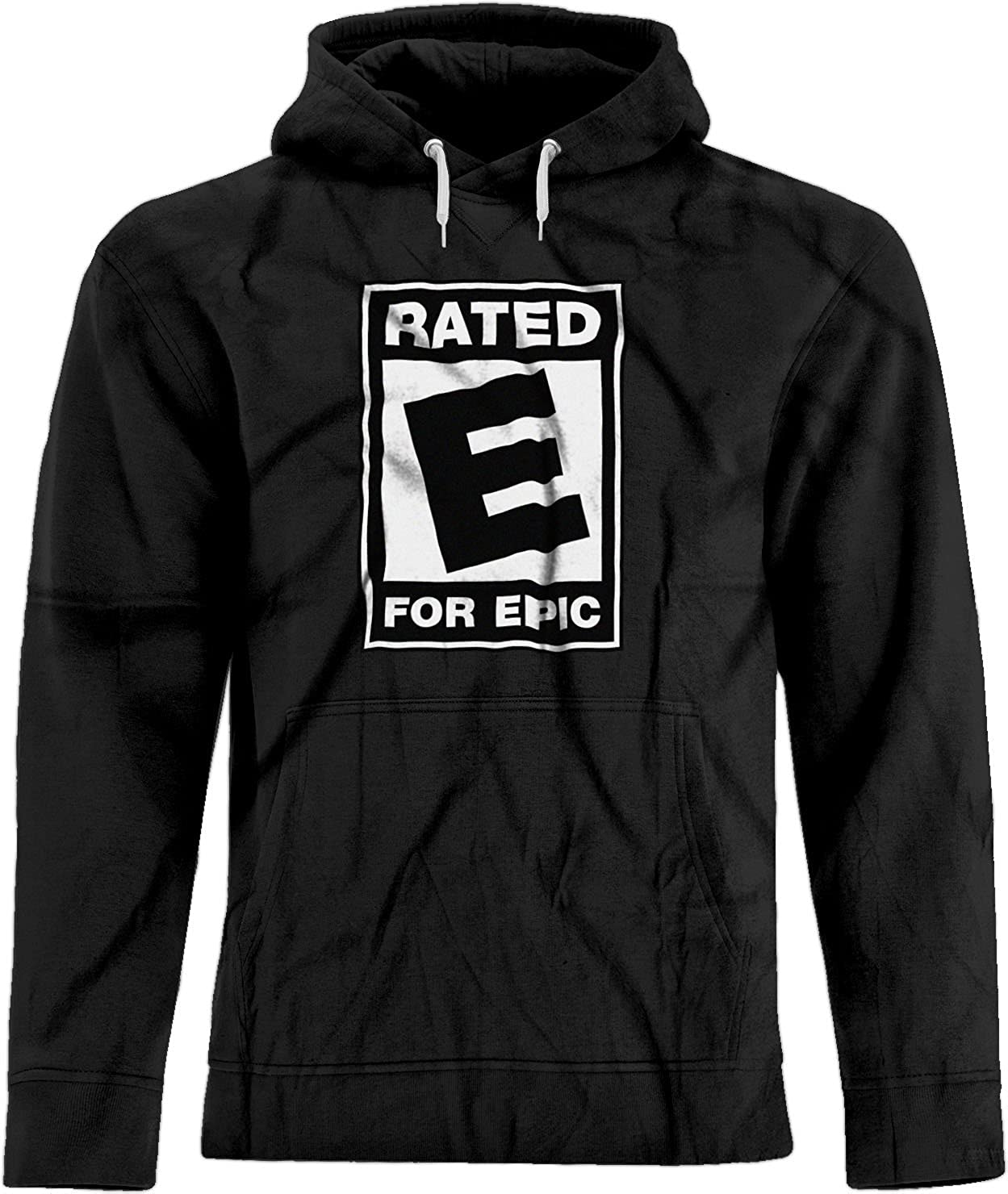 BSW Mens Rated E for Epic ESRB Video Entertainment Logo Hoodie