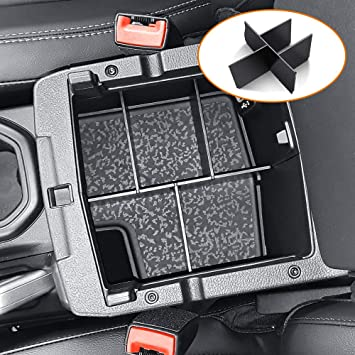 Black Center Console Organizer Tray for Jeep Wrangler JL//JLU 2018 2019 2020 and Jeep Gladiator JT Truck 2020 Armrest Storage Glove Box