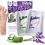 Foot Mask 2 Packs, Wolady Foot Peeling Mask and Moisturizing Socks, for Foot Care, Peel Off Calluses & Dead Skin, Making Your