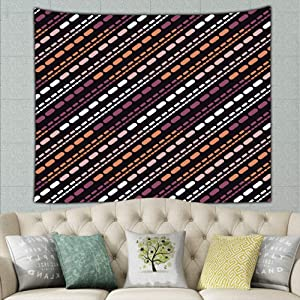 zhufeifan Trendy Designs Strips dots Abstract Abstract Abstract Abstract Tapestry Bohemian Tapestry Hippie Tapestry Bedroom Living Room Dorm Art Wall Hanging 50ʺ × 60ʺ