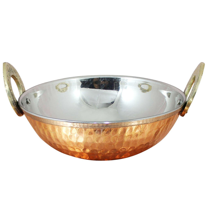 1 by STREET CRAFT STREET CRAFT Stainless Steel Hammered Copper Serveware Accessories Karahi Pan Bowls