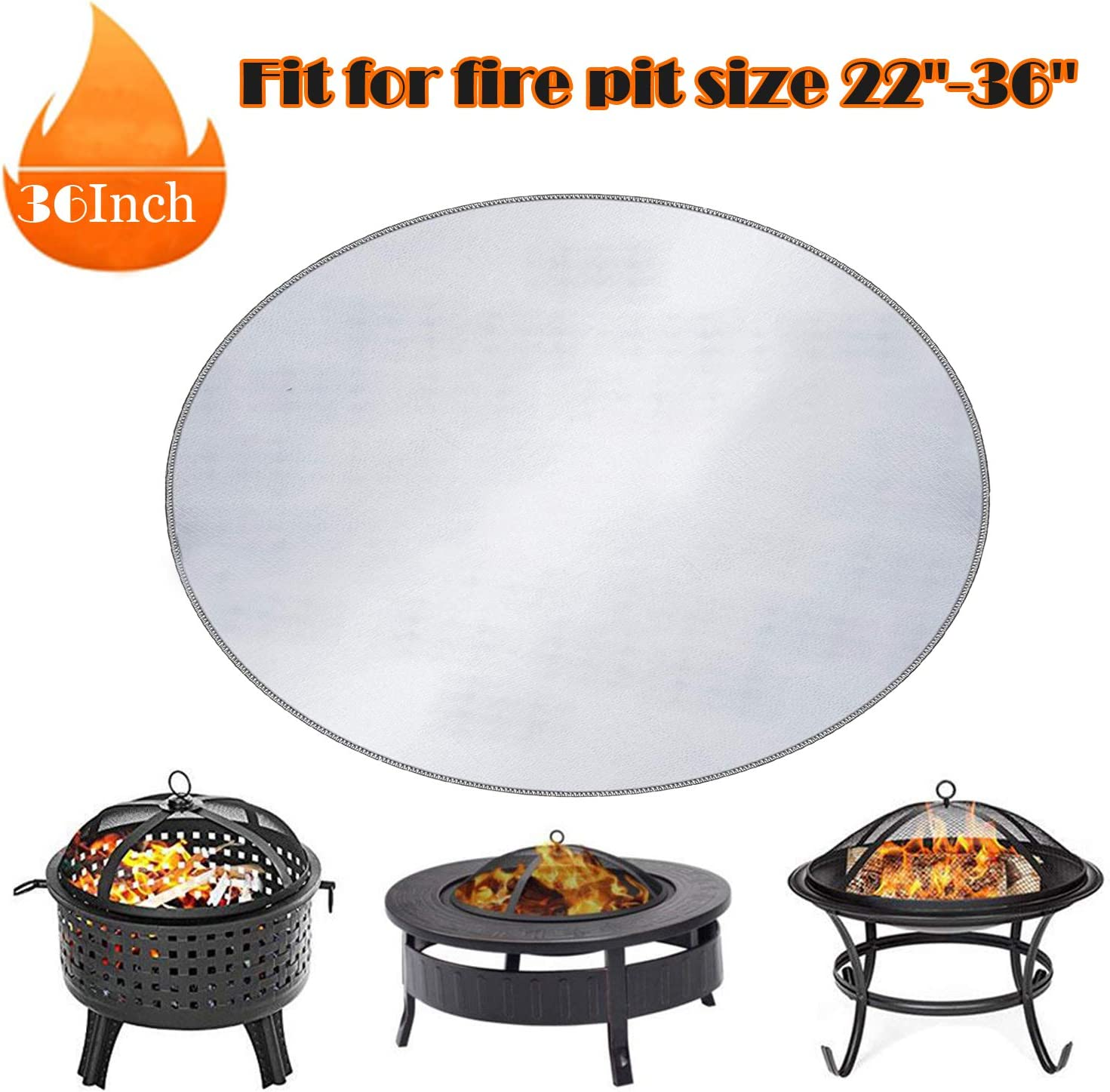 Fire Pit Pad Prevent Your Floor Deck Patio /& Lawn from Damaged by High Temperature Huttoly Round Fire Pit Mat /& Grill Mat Deck Protector 24 Inch