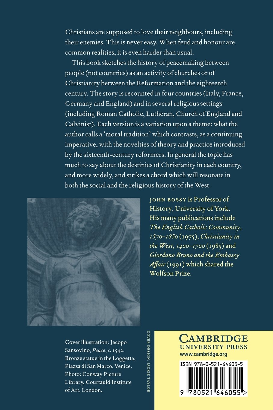 Peace in the Post-Reformation (Birkbeck Lectures)