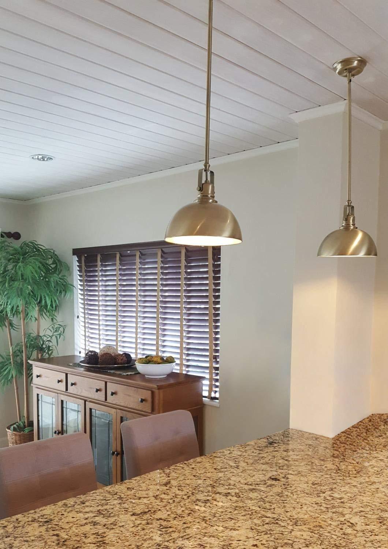 Adjustable Length Oil-Rubbed Bronze Finish Shade Swivel Joint Kira Home Belle 9 Contemporary Industrial 1-Light Pendant Light