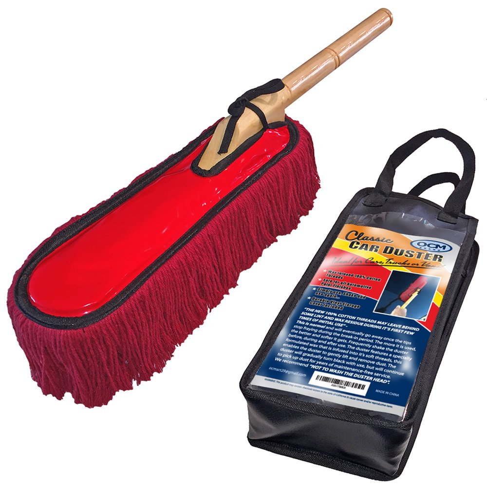 OCM Brand Classic Car Duster with Solid Wood Handle Includes Storage Case - Popular Detailers Choice