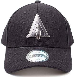 cad54b32ca9e7 Assassins Creed Odyssey Baseball Cap Metal Badge Logo Official Black Curved  Bill