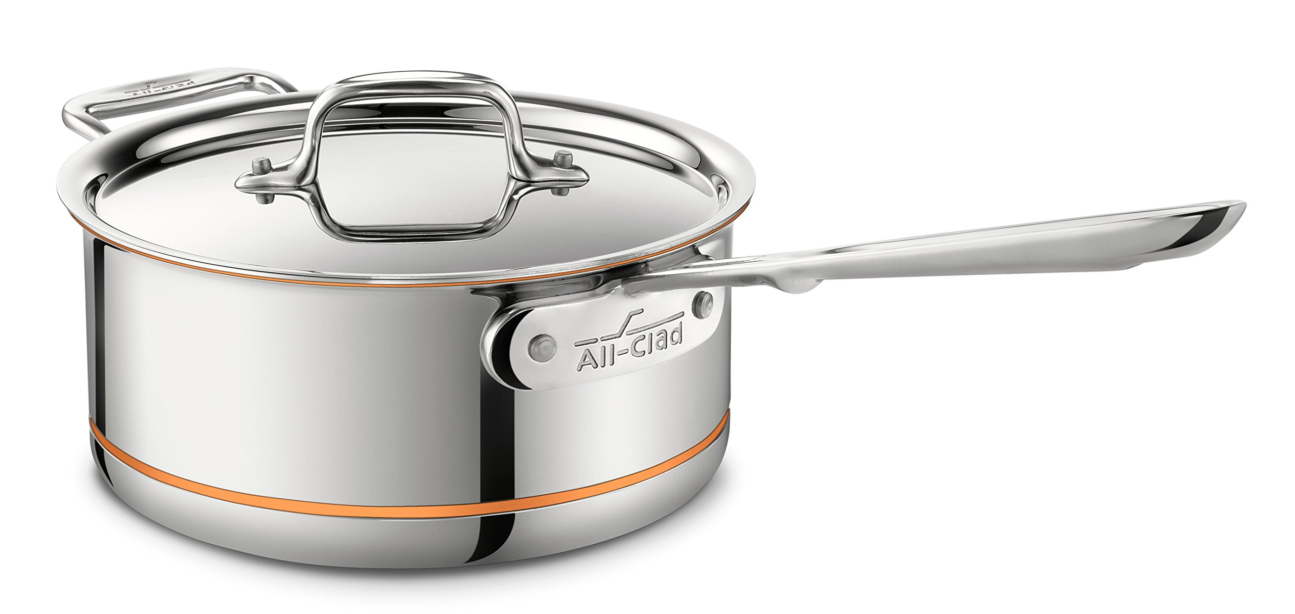 All-Clad 6201.5 SS Copper Core 5-Ply Bonded Dishwasher Safe Saucepan / Cookware, 1.5-Quart, Silver by All-Clad