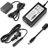 F1T-Power ACPW20 AC Power Supply Adapter + Dummy Battery Charger kit Replce NP-FW50 Battery for Sony A7000 A6500 A6400…