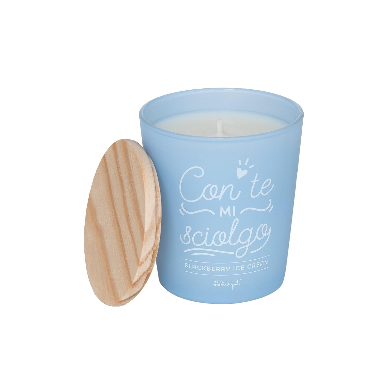 'Mr.Wonderfulmit Te Ich sciolgo Kerze, Kristall, Blau, 15x 20x 25cm
