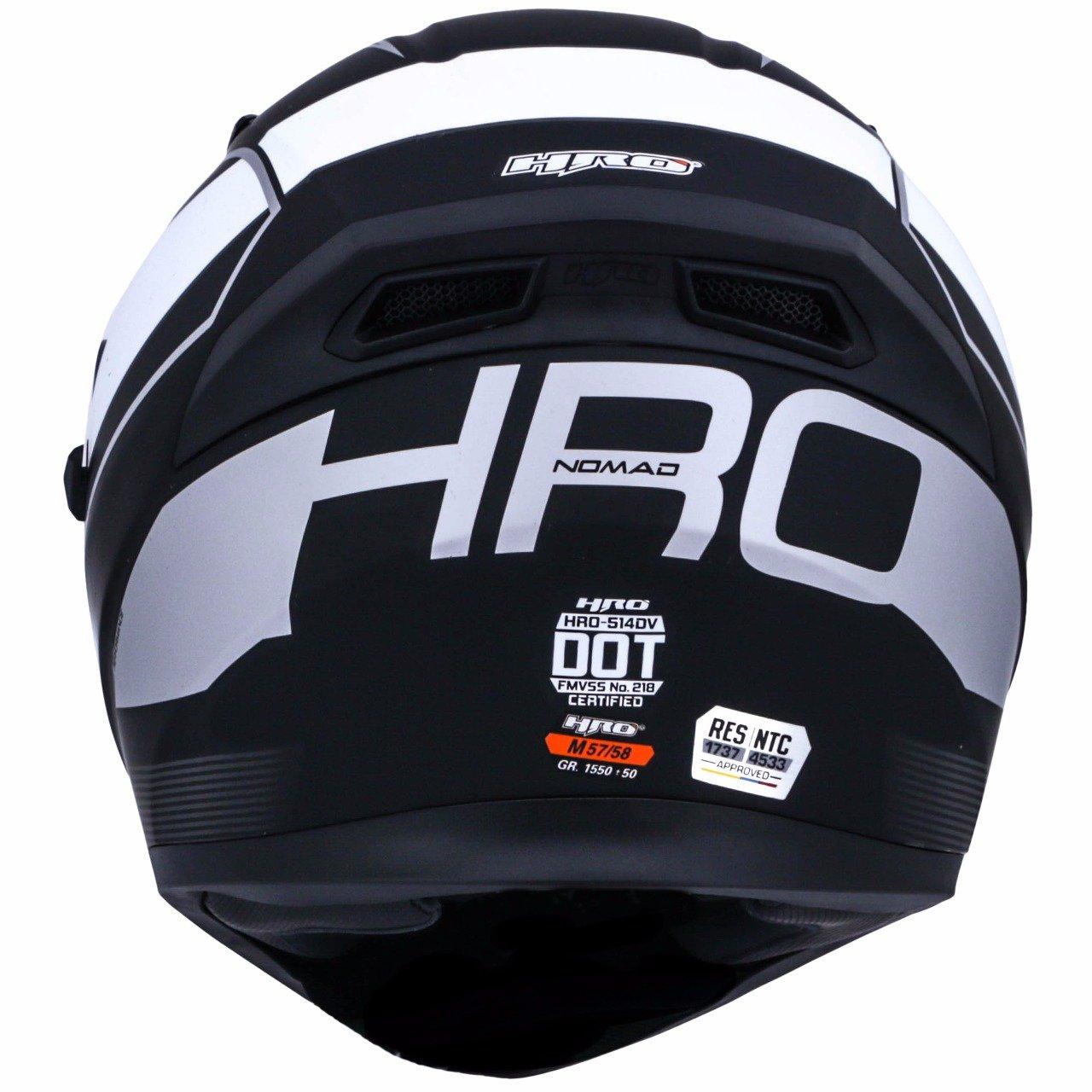 Amazon.es: HRO 514 profesional Motorcycle Racing Casco. 2 viseras - diseño elegante - proteger su vida + Awesome Bonus: libre D2D aventura pasamontañas.
