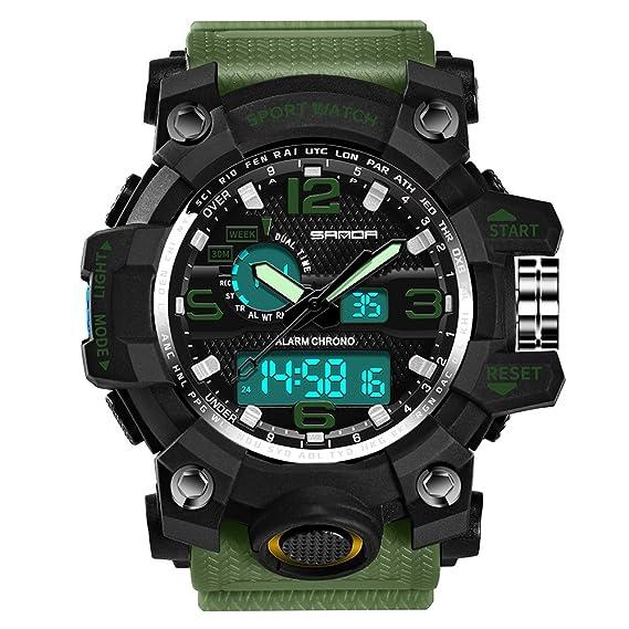 Reloj deportivo con función de cronómetro y cronómetro para hombre, con función de cuenta atrás