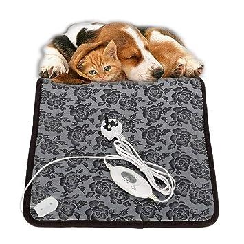 Xixiw - Alfombrilla térmica eléctrica para calentar la cama, manta de calefacción para perro,