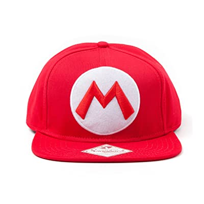 SUPER MARIO SB140251NTN Nintendo Red Snapback Cap with Embroidered Mario Logo (One Size) - Red: Toys & Games [5Bkhe1107153]