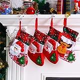 Leoie Christmas Stockings Decoration Stocking Holders Gift Bag Sock Tree Hanging Decoration Pendant Little Bear