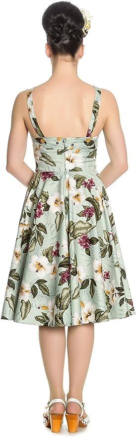 Vestido corto estampado Tahiti 50s dress Hell Bunny 10004677V