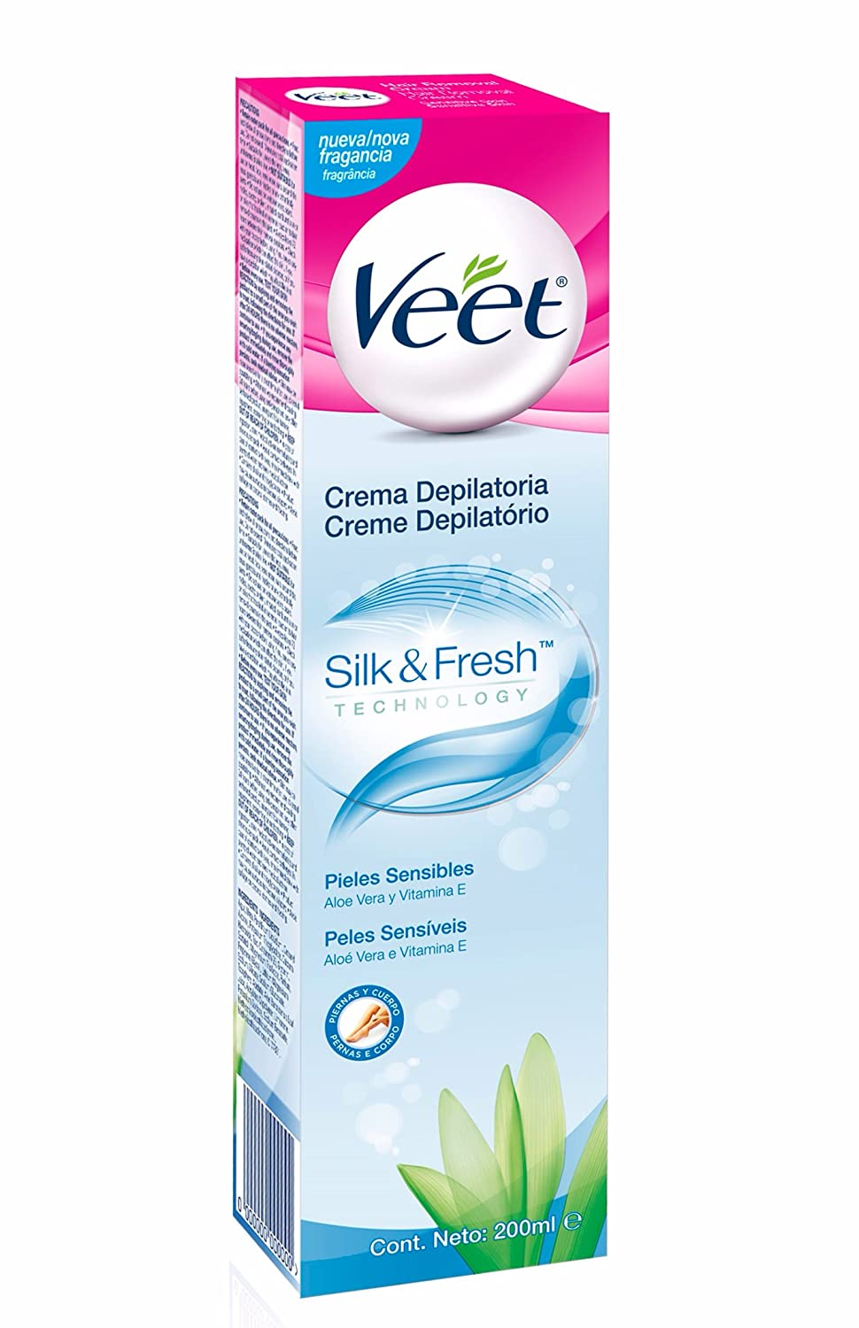 Veet Crema Depilatoria Pieles Sensibles - 20 cl: Amazon.es ...