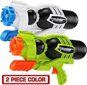 MAPIXO 2 Pack Super Water Gun(No Leaking), High Capacity Water Shooter Soaker Blaster Squirt Toy for Swimming Pool Party Sand Beach Game Outdoor Summer Fight Activity for Child Kid boy and Girl