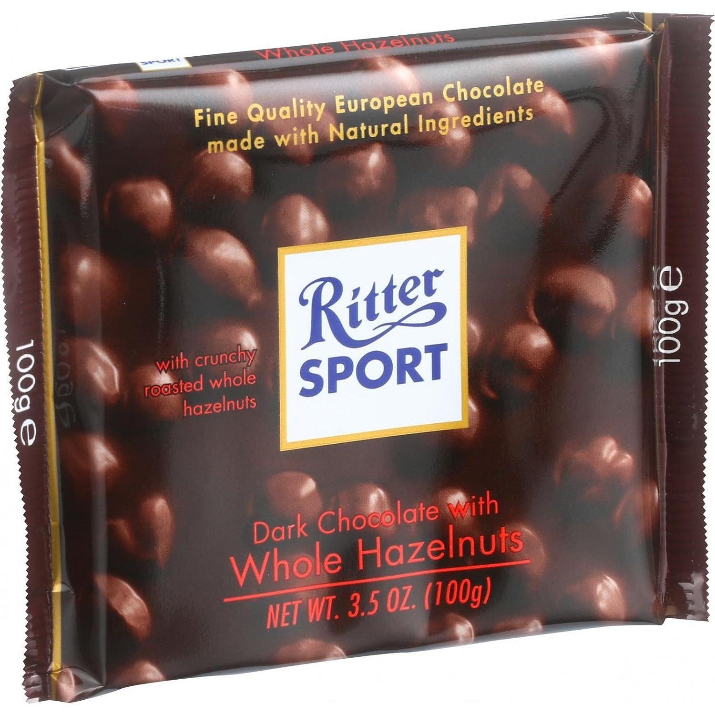 Amazon.com : Ritter Sport Whole Hazelnut Dark Bar, 3.5 oz : Candy ...