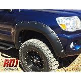 RDJ Trucks PRO-OFFROAD Bolt-On Style Fender Flares - Toyota Tacoma 2005-2011 6' Long Bed - Set of 4 - Aggressive Textured Black Finish