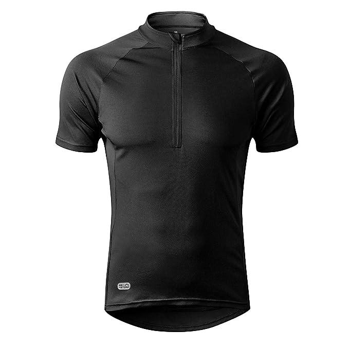 INBIKE Men's Moisture Wicking Short Sleeve Quick Dry Bike Jersey Running Tops Breathable Basic Shirts for Sports