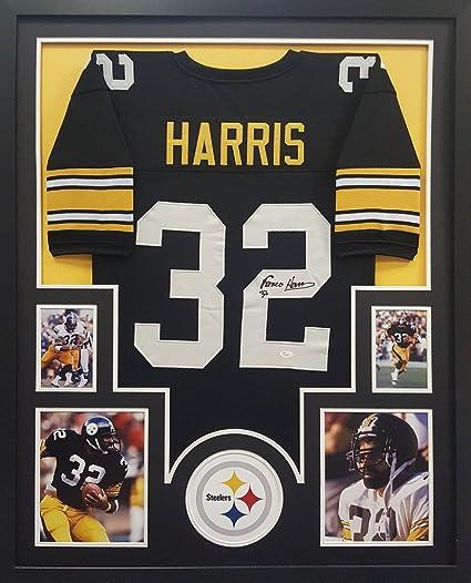 Franco Harris Pittsburgh Steelers Autograph Signed Custom Framed Jersey JSA  Witnessed Certified ddf3d76ca