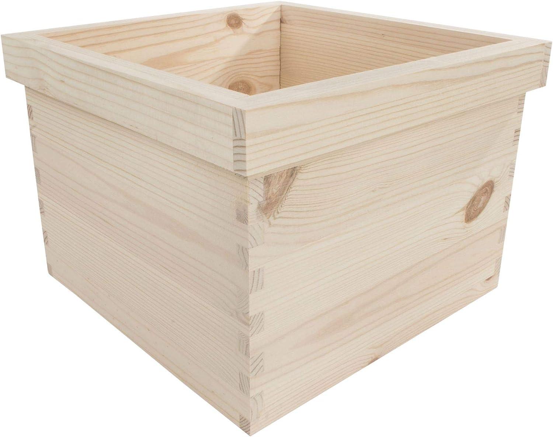Search Box Cajas de Madera cuadradas para macetas, 4 tamaños/Pino ...