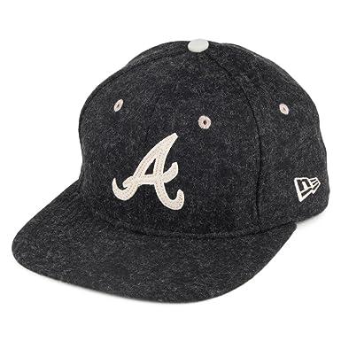 New Era 9FIFTY Atlanta Braves Snapback Cap - Felt Wool Snap - Charcoal  Medium Large 00778e66212