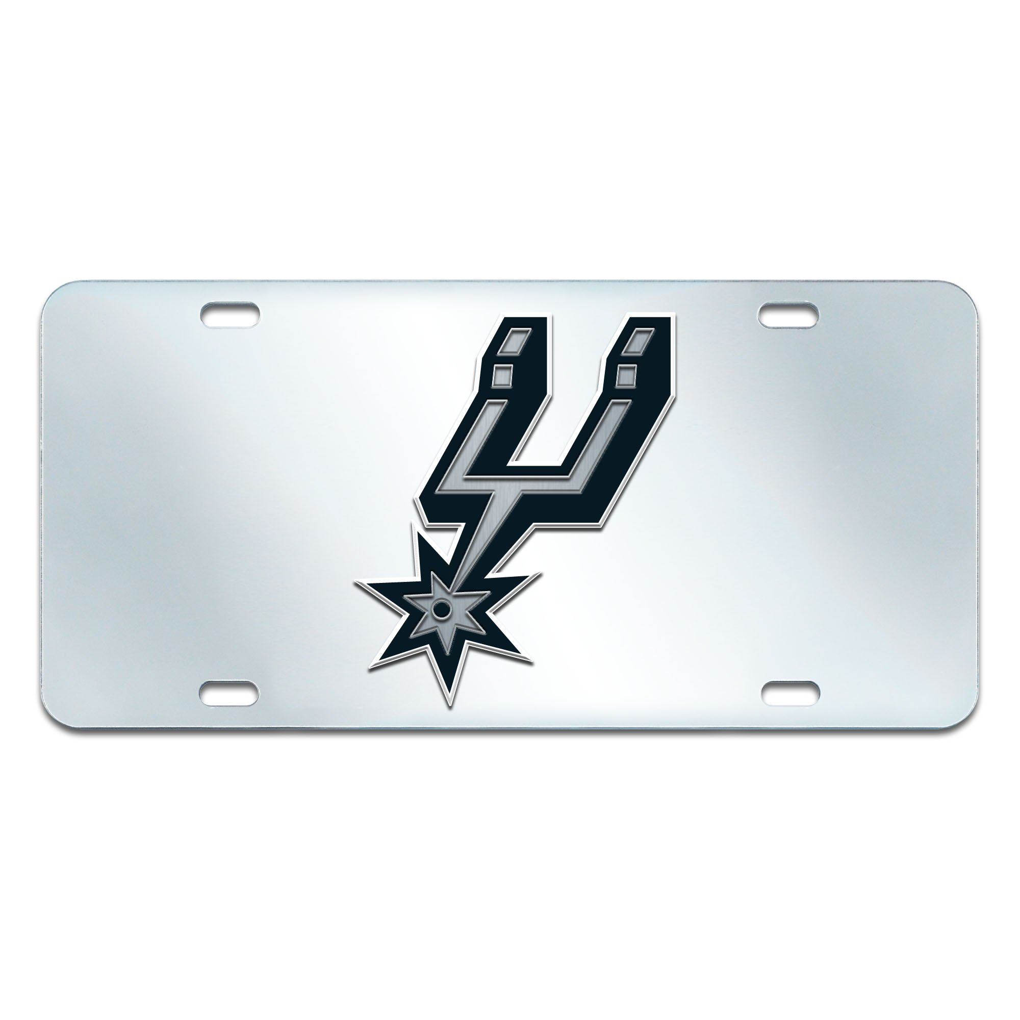 FANMATS NBA San Antonio Spurs Plastic License Plate (Inlaid)