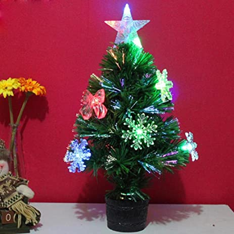 quartly mini artificial christmas tree decoration led multicolor lights xmas tree christmas decoration for table