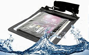 Navitech MiTAB Black WaterGuard Waterproof Case, Waterproof Cover Compatible with The 10 Inch Tablets Including The Acer Aspire Iconia Tab A200/ A210/ A500/ A510/ A700/ W500