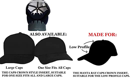 low crown baseball hats lids amazon white manta ray caps inserts for profile hat stretcher stiffener flex fit support uk short