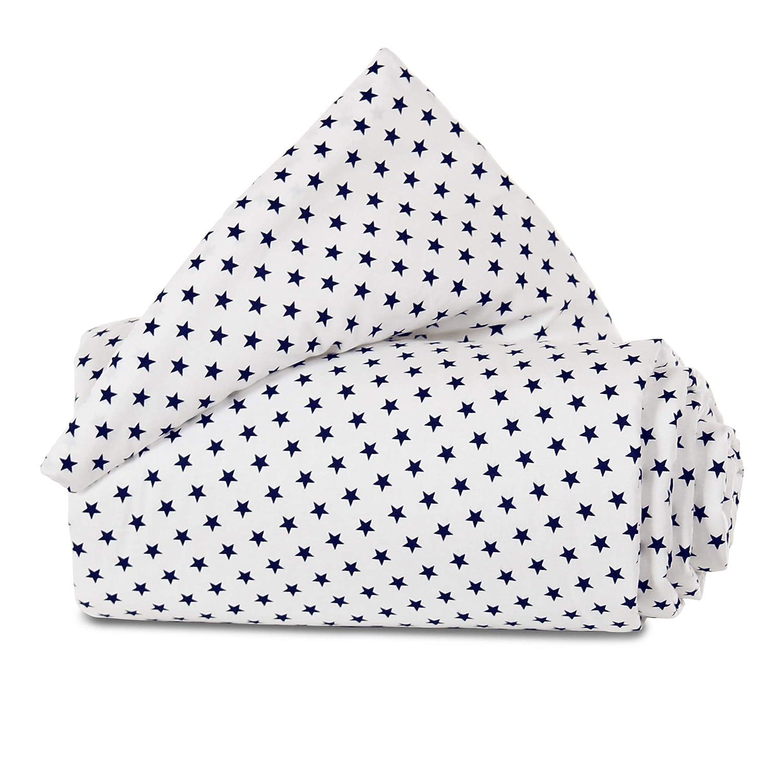 wei/ß Sterne blau babybay Nestchen Organic Cotton passend f/ür Modell Maxi Boxspring und Comfort