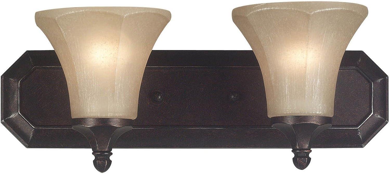 Kenroy Home 91672PN Ewing 2 Light Vanity, Polished Nickel Finish