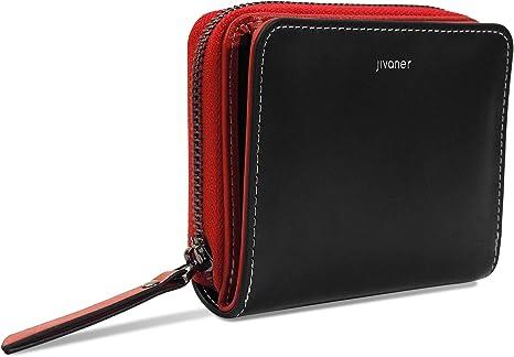 Donna Alta Qualità Lusso Morbido Nero Pelle Portamonete Porta carte di credito