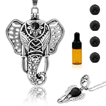 Amazoncom Royaroma Essential Oil Diffuser Necklace Elephant