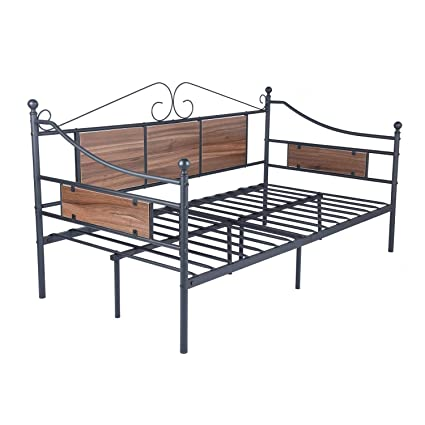 Amazon.com: GreenForest Daybed Frame Twin Size Wooden Fence Support ...