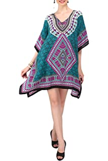 94bf037b46c0 Miss Lavish Women s Kaftan Tunic Kimono Style Dress Summer Beach Cover Up  Plus Size