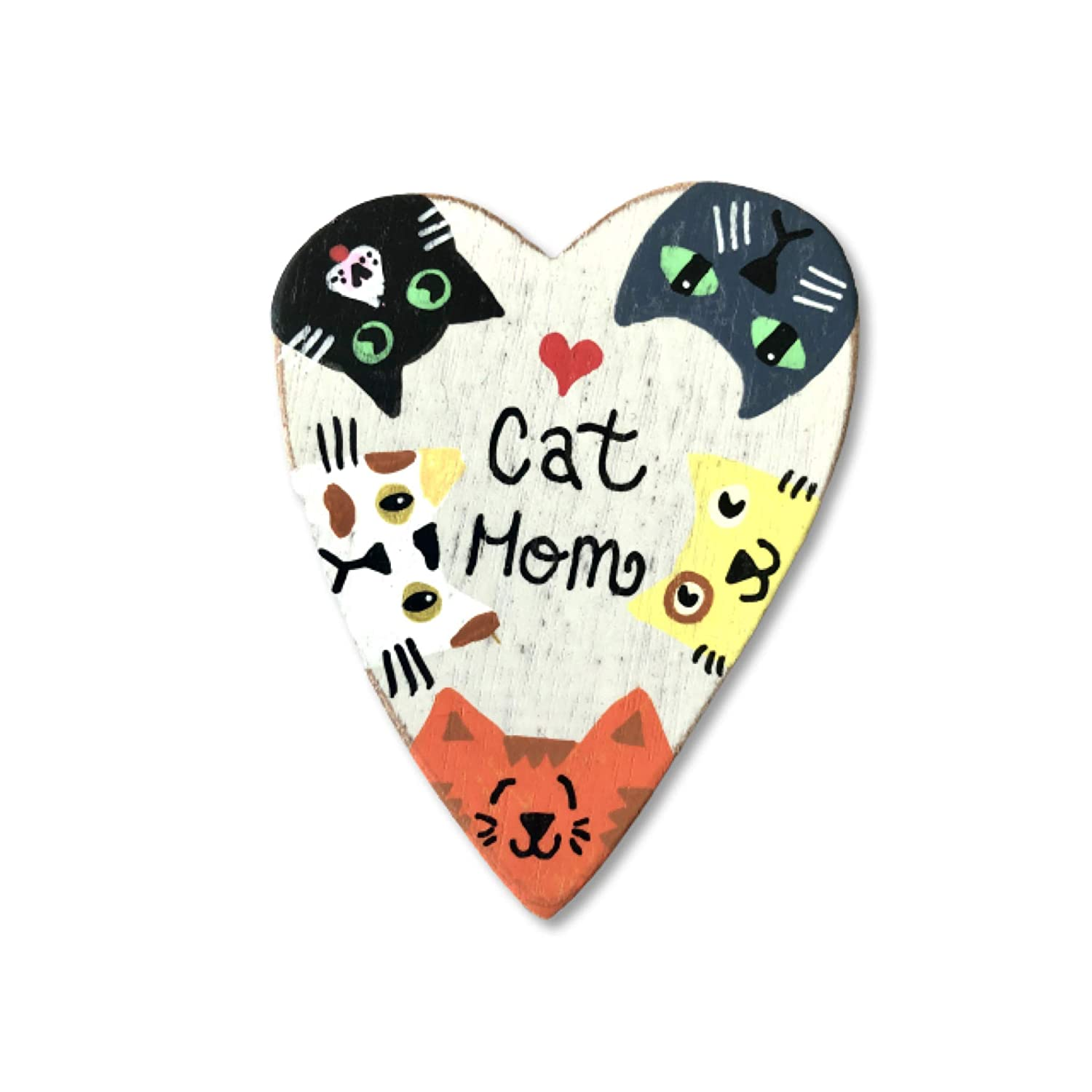 Large 3.5 inches Cat Lover Kitchen Decor Cat Mom Heart Fridge Magnet