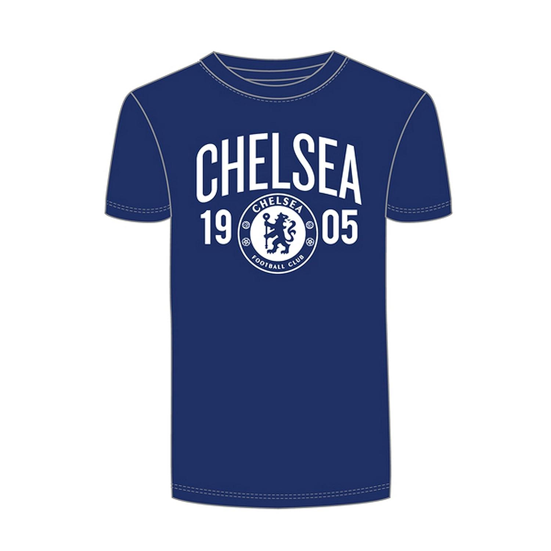 Chelsea FC Herren Fu/ßball-T-Shirt mit Design