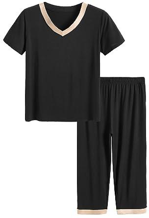 64bf11f67 Latuza Women s Sleepwear Tops with Capri Pants Pajama Sets at Amazon ...