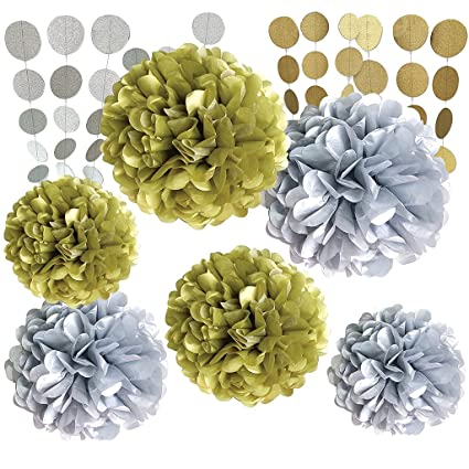 Buy Baoblae 8 Pieces Tissue Paper Flowers Balls Polka Dot Paper