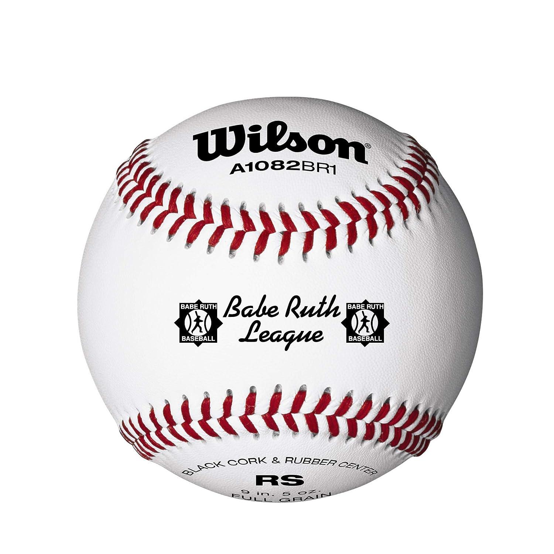 Wilson A1082 Babe Ruth League Series Baseball 12-Pack White