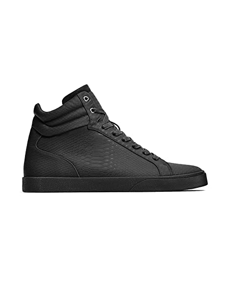 d0dd0cef Zara Men High top sneakers with embossed snakeskin effect 5501/202 ...