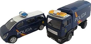 LCQI Coche Policia Nacional Guardia Civil Camión Pack 2 Juguete ...