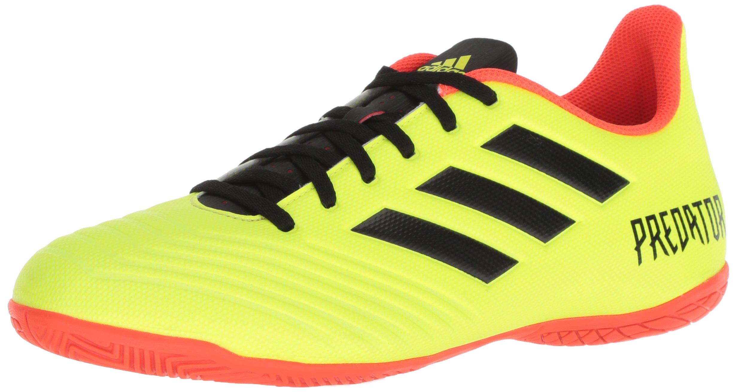 adidas Men's Predator Tango 18.4 Indoor Soccer Shoe, Solar Yellow/Black/Solar Red, 11 M US